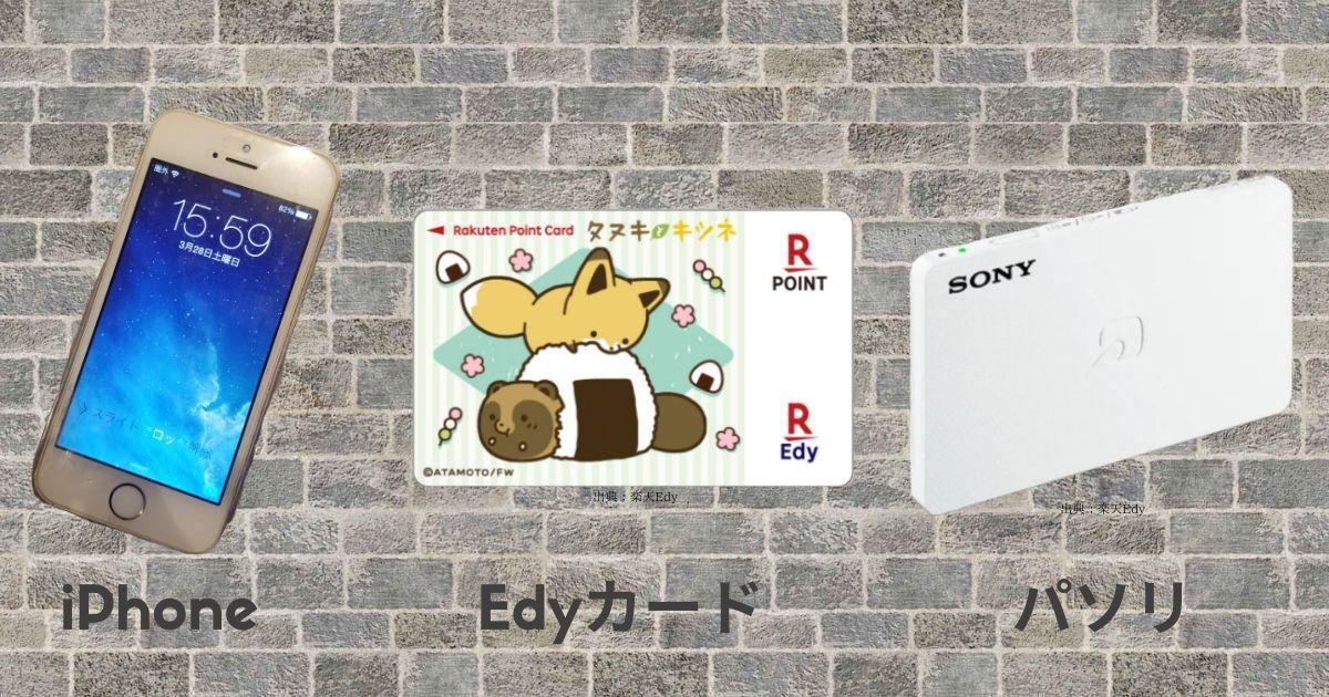 iPhone+Edyカード