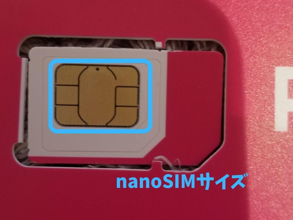 楽天アンリミット SIMサイズ